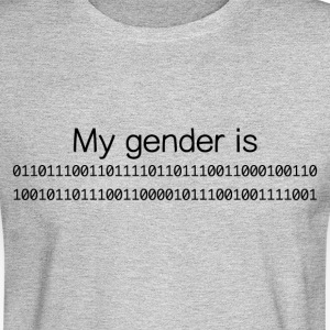 My Gender Is (nonbinary) In Binary - Men's Long Sleeve T-Shirt
