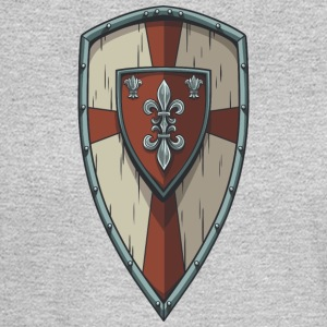 wood_king_shield - Men's Long Sleeve T-Shirt