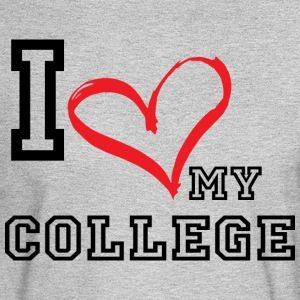 I_LOVE_MY_COLLEGE- PLUS SIZE - Men's Long Sleeve T-Shirt