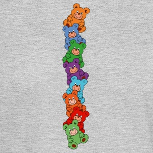 colorful teddy bears - Men's Long Sleeve T-Shirt