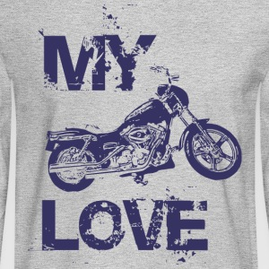 My love is motorcycle - Men's Long Sleeve T-Shirt