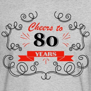 Cheers to 80 years - Men's Long Sleeve T-Shirt