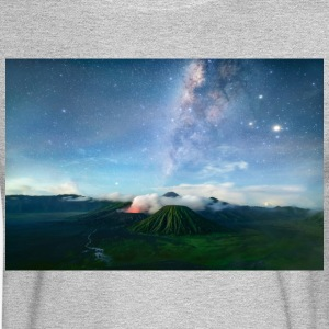 Volcano with the pretty Galaxy - Men's Long Sleeve T-Shirt