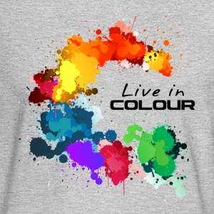 Live In Colour - Paint Splashes Colour Tee - Men's Long Sleeve T-Shirt