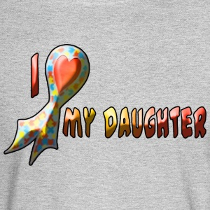 AUTISM my daughter - Men's Long Sleeve T-Shirt