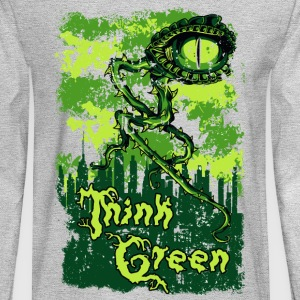 THINK GREEN all eyes on you save our nature - Men's Long Sleeve T-Shirt