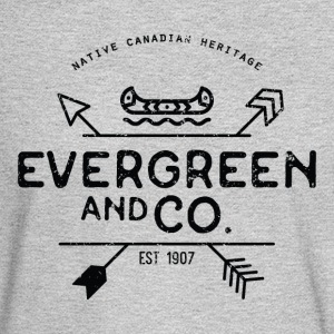 Evergreen and Co. Classic Canoe - Men's Long Sleeve T-Shirt