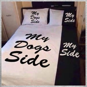 My side of the bed, my dogs side - Men's Long Sleeve T-Shirt