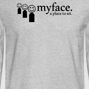 Myface a place to sit - Men's Long Sleeve T-Shirt