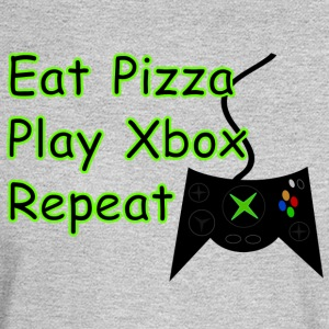 Eat Pizza Play Xbox Repeat - Men's Long Sleeve T-Shirt
