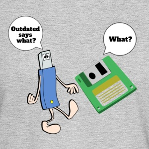 Thumb drive making fun of Floppy disc - Men's Long Sleeve T-Shirt