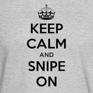 keep calm and snipe on - Men's Long Sleeve T-Shirt