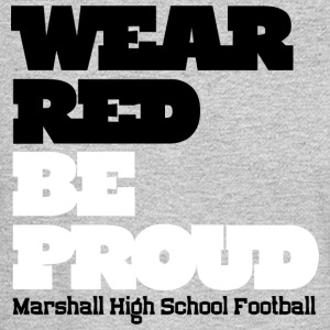 Wear Red Be Proud Marshall High Football - Men's Long Sleeve T-Shirt