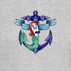 mermaid fee water sea ocean anchor armature - Men's Long Sleeve T-Shirt