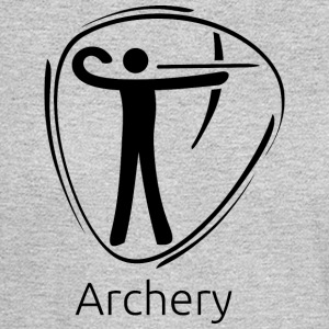 Archery_black - Men's Long Sleeve T-Shirt