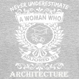 Never Underestimate Woman Who Majored Architecture - Men's Long Sleeve T-Shirt