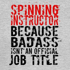 SPINNING INSTRUCTOR BADASS JOB TITLE - Men's Long Sleeve T-Shirt