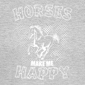 HORSES MAKE ME HAPPY - Men's Long Sleeve T-Shirt