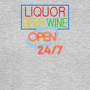 Liquor Beer Wine Neon - Men's Long Sleeve T-Shirt