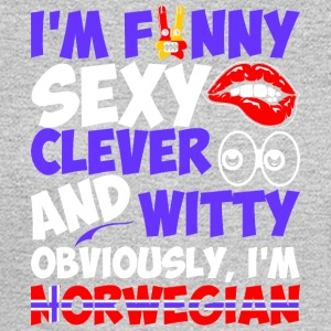 Im Funny Sexy Clever And Witty Im Norwegian - Men's Long Sleeve T-Shirt