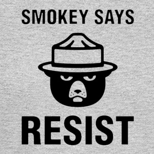 Smokey Says Resist - Men's Long Sleeve T-Shirt