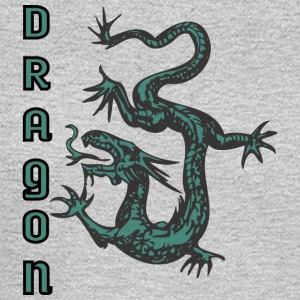 down_looking_dragon_color - Men's Long Sleeve T-Shirt