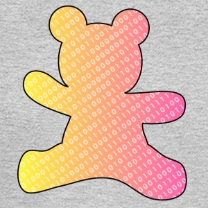 teddy bear with binary code - Men's Long Sleeve T-Shirt