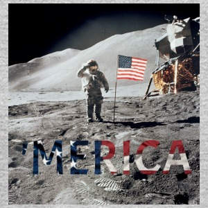 MERICA MOON - Men's Long Sleeve T-Shirt