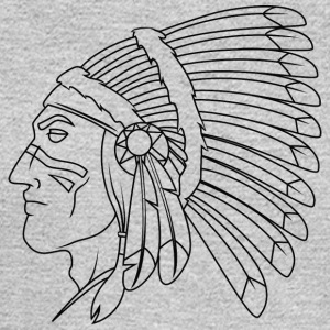 american_indian_chief_with_colored_face_black - Men's Long Sleeve T-Shirt