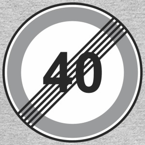 Road_Sign_40_restriction - Men's Long Sleeve T-Shirt