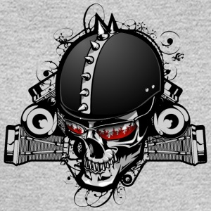 Biker_skull - Men's Long Sleeve T-Shirt