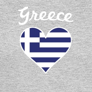 Greece Flag Heart - Men's Long Sleeve T-Shirt