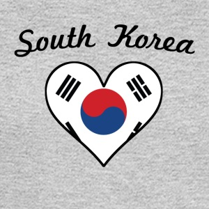 South Korea Flag Heart - Men's Long Sleeve T-Shirt
