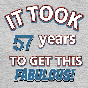 57th birthday design - Men's Long Sleeve T-Shirt