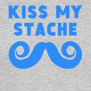Kiss My Stache Mustache - Men's Long Sleeve T-Shirt