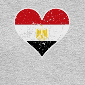Distressed Egyptian Flag Heart - Men's Long Sleeve T-Shirt