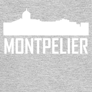 Montpelier Vermont City Skyline - Men's Long Sleeve T-Shirt