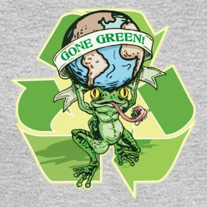 Gone Green Earth Day Frog - Men's Long Sleeve T-Shirt