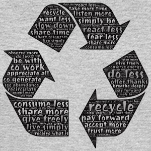 Recycling - Typography - Men's Long Sleeve T-Shirt
