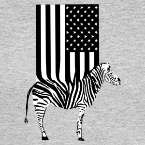 Stars Zebra USA Flag, American Zebra Flag - Men's Long Sleeve T-Shirt