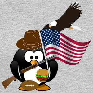 Patriot Penguin USA Flag - Men's Long Sleeve T-Shirt
