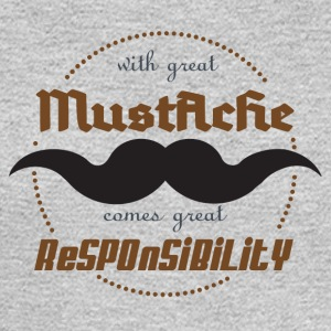 With Great Mustache, Comes Great Responsibility - Men's Long Sleeve T-Shirt