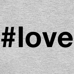 Love - Hashtag Design (Black Letters) - Men's Long Sleeve T-Shirt