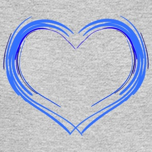 blue heart - Men's Long Sleeve T-Shirt