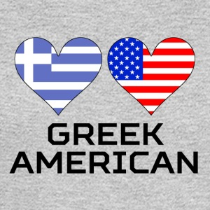Greek American Hearts - Men's Long Sleeve T-Shirt
