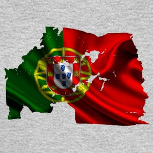 Bandeira de Portugal esfarrapada - Men's Long Sleeve T-Shirt