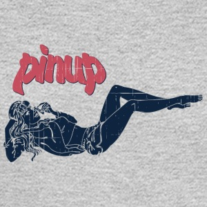 pinup_girl_talking_with_phone_vintage - Men's Long Sleeve T-Shirt