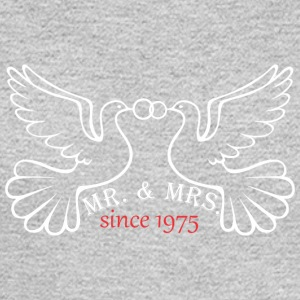 Mr And Mrs Since 1975 Married Marriage Engagement - Men's Long Sleeve T-Shirt