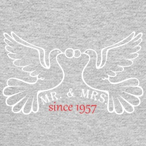Mr And Mrs Since 1957 Married Marriage Engagement - Men's Long Sleeve T-Shirt