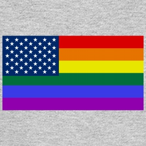 LGBT PRIDE USA rainbow flag - Men's Long Sleeve T-Shirt